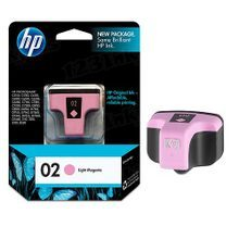 Original HP 02 Light Magenta Ink Cartridge in Retail Packaging (C8775WN)