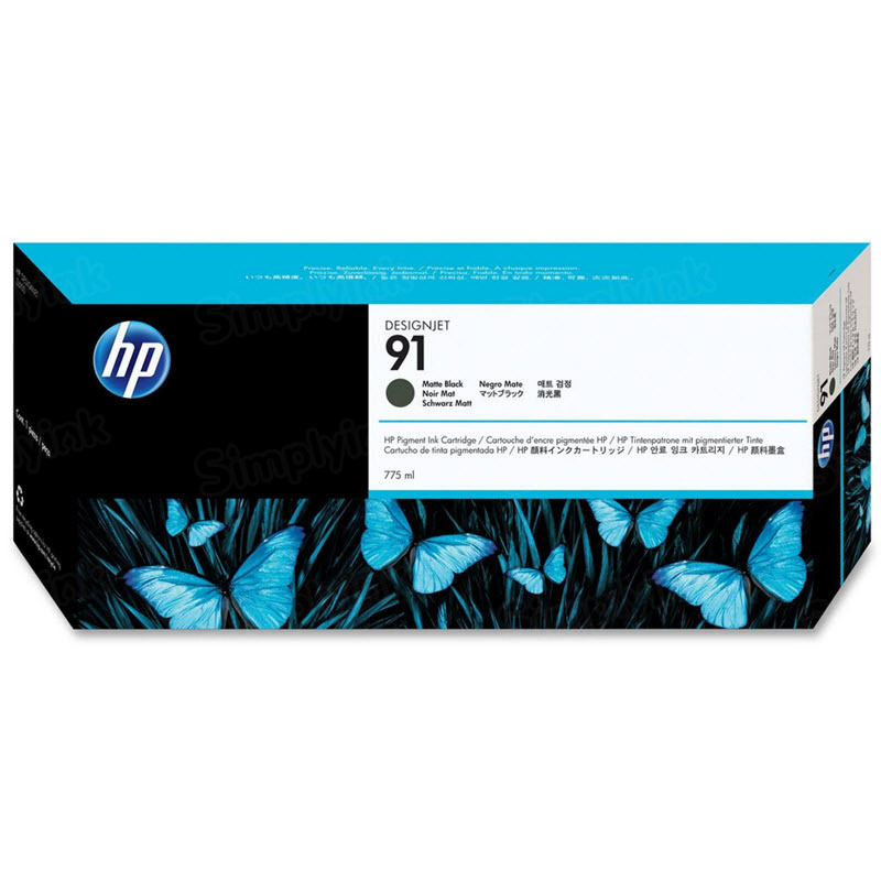 HP 91 Matte Black Original Ink Cartridge C9464A
