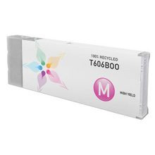 Remanufactured Replacement for Epson T606B00 (T606B) High Yield Magenta Ink Cartridges