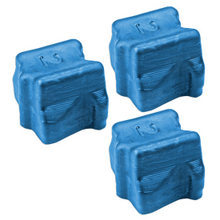 Compatible Xerox Set of 3 Cyan 108R00605 Solid Ink Blocks for the Phaser 8400