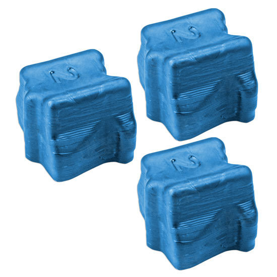 Compatible Xerox 108R00605 Cyan 3-Pack Solid Ink for the Phaser 8400