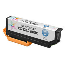 Remanufactured Replacement for Epson T273XL220 (273XL) High Yield Cyan Ink Cartridges