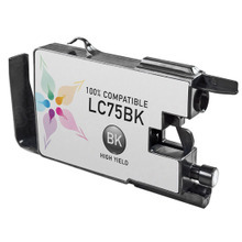 Compatible Brother LC75BK High Yield Black Ink Cartridges