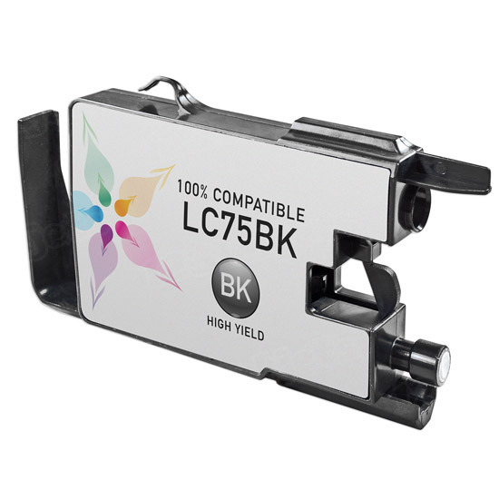 Brother Compatible LC75BK High Yield Black Ink