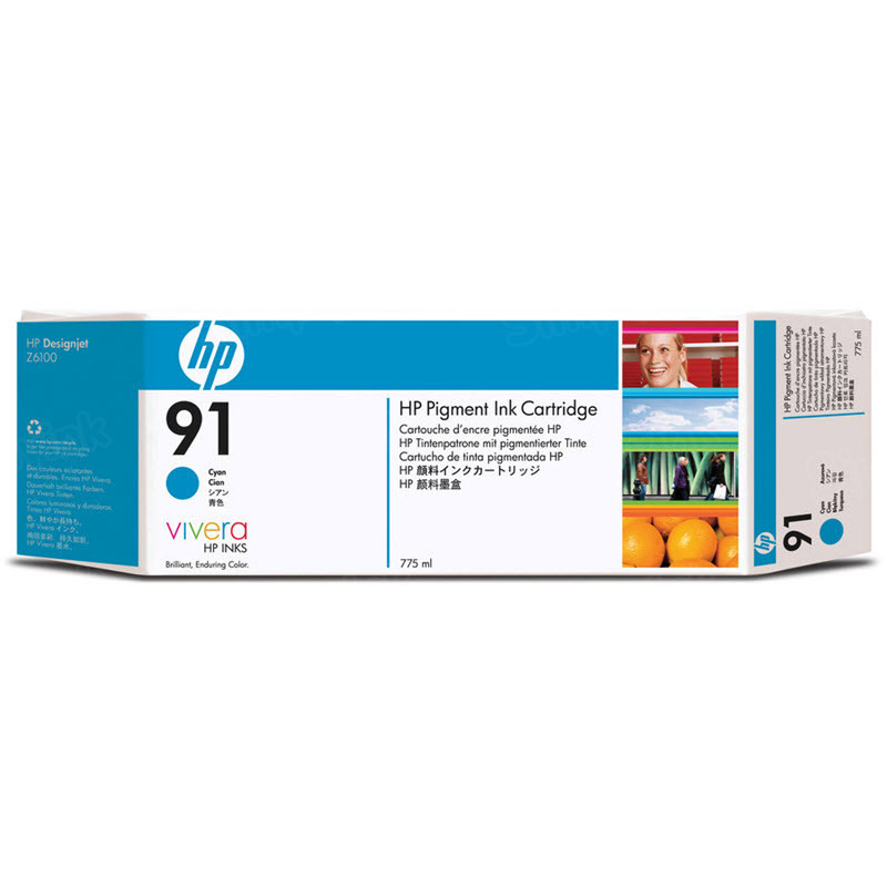 HP 91 Cyan Original Ink Cartridge C9467A