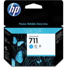 Original HP 711 Cyan Ink Cartridge in Retail Packaging (CZ130A)