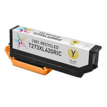 Remanufactured Replacement for Epson T273XL420 (273XL) High Yield Yellow Ink Cartridges