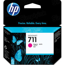 Original HP 711 Magenta Ink Cartridge in Retail Packaging (CZ131A)