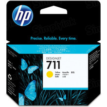 Original HP 711 Yellow Ink Cartridge in Retail Packaging (CZ132A)