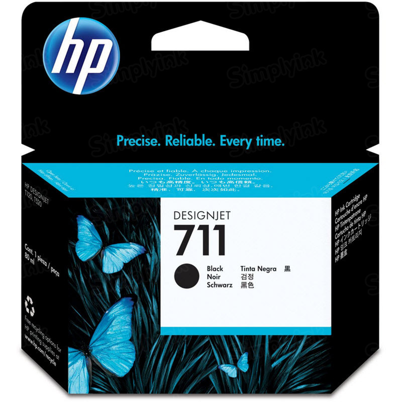 HP 711 Black Original Ink Cartridge CZ133A