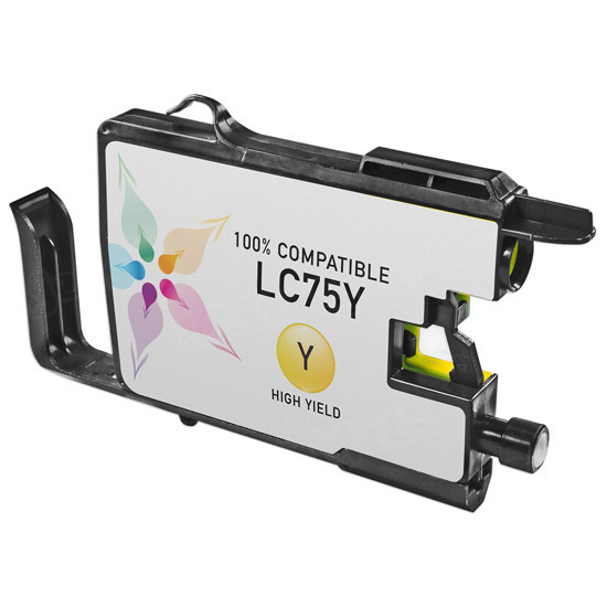 Brother Compatible LC75Y High Yield Yellow Ink