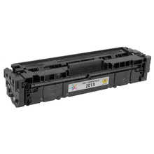 Compatible Brand Replacement for HP CF402X (201X) High Yield Yellow Laser Toner Cartridge