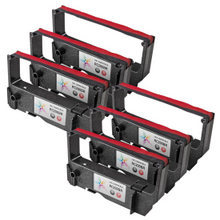 Compatible Star Micronics RC200BR Black and Red 6 Pack POS Ribbons