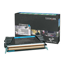 Lexmark OEM High Yield Cyan Laser Toner Cartridge, C736H4CG (C736dn / X746de) (10,000 Page Yield)