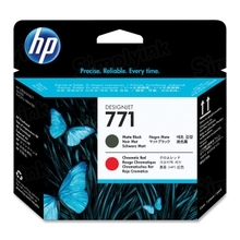 Original HP 771 Matte Black and Red Printhead in Retail Packaging (CE017A)