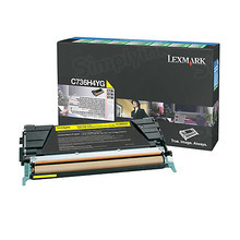 Lexmark OEM High Yield Yellow Laser Toner Cartridge, C736H4YG (C736dn / X746de) (10,000 Page Yield)