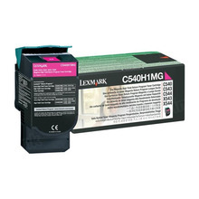 Lexmark OEM High Yield Magenta Return Program Laser Toner Cartridge, C540H1MG (2K Page Yield)