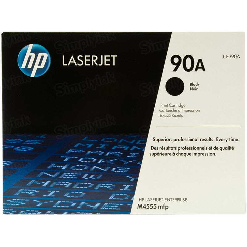 Original HP CE390A (90A) Black Toner