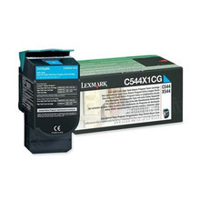 Lexmark OEM Extra High Yield Cyan Return Program Laser Toner Cartridge, C544X1CG (4K Page Yield)