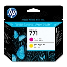 Original HP 771 Magenta and Yellow Printhead in Retail Packaging (CE018A)