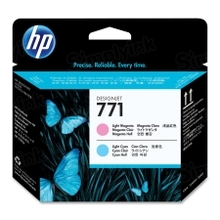 Original HP 771 Light Cyan and Light Magenta Printhead in Retail Packaging (CE019A)