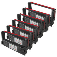 Compatible Epson ERC-23BR Black and Red 6 Pack POS Ribbons