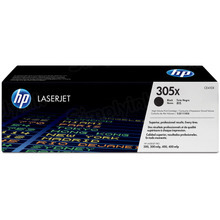 HP 305X (CE410X) Black High Yield Original Toner Cartridge in Retail Packaging