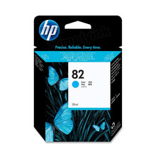 Original HP 82 Cyan Ink Cartridge in Retail Packaging (CH566A)