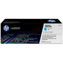 HP 305A (CE411A) Cyan Original Toner Cartridge in Retail Packaging