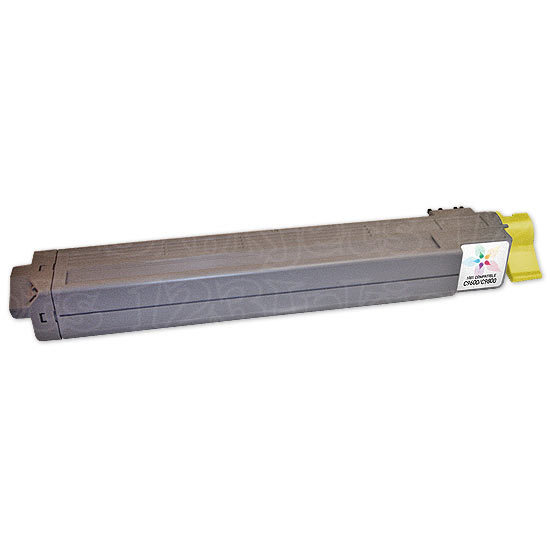 Remanufactured Yellow Toner Cartridge for Okidata