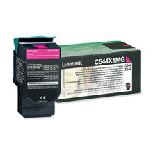 Lexmark OEM Extra High Yield Magenta Return Program Laser Toner Cartridge, C544X1MG (4K Page Yield)