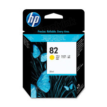 Original HP 82 Yellow Ink Cartridge in Retail Packaging (CH568A)