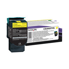 Lexmark OEM Extra High Yield Yellow Return Program Laser Toner Cartridge, C544X1YG (4K Page Yield)