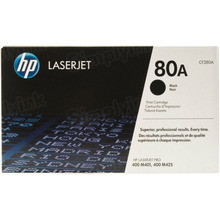 HP 80A (CF280A) Black Original Toner Cartridge in Retail Packaging