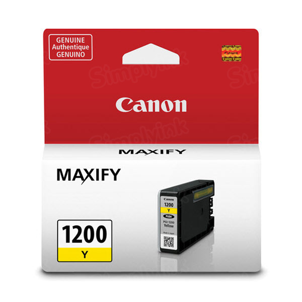 Canon PGI-1200 Yellow Ink Cartridge, OEM