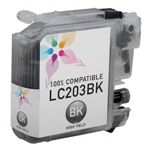 Compatible LC203BK High Yield Black Ink Cartridge for Brother
