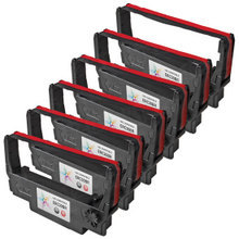 Compatible Epson ERC-30BR Black and Red 6 Pack POS Ribbons