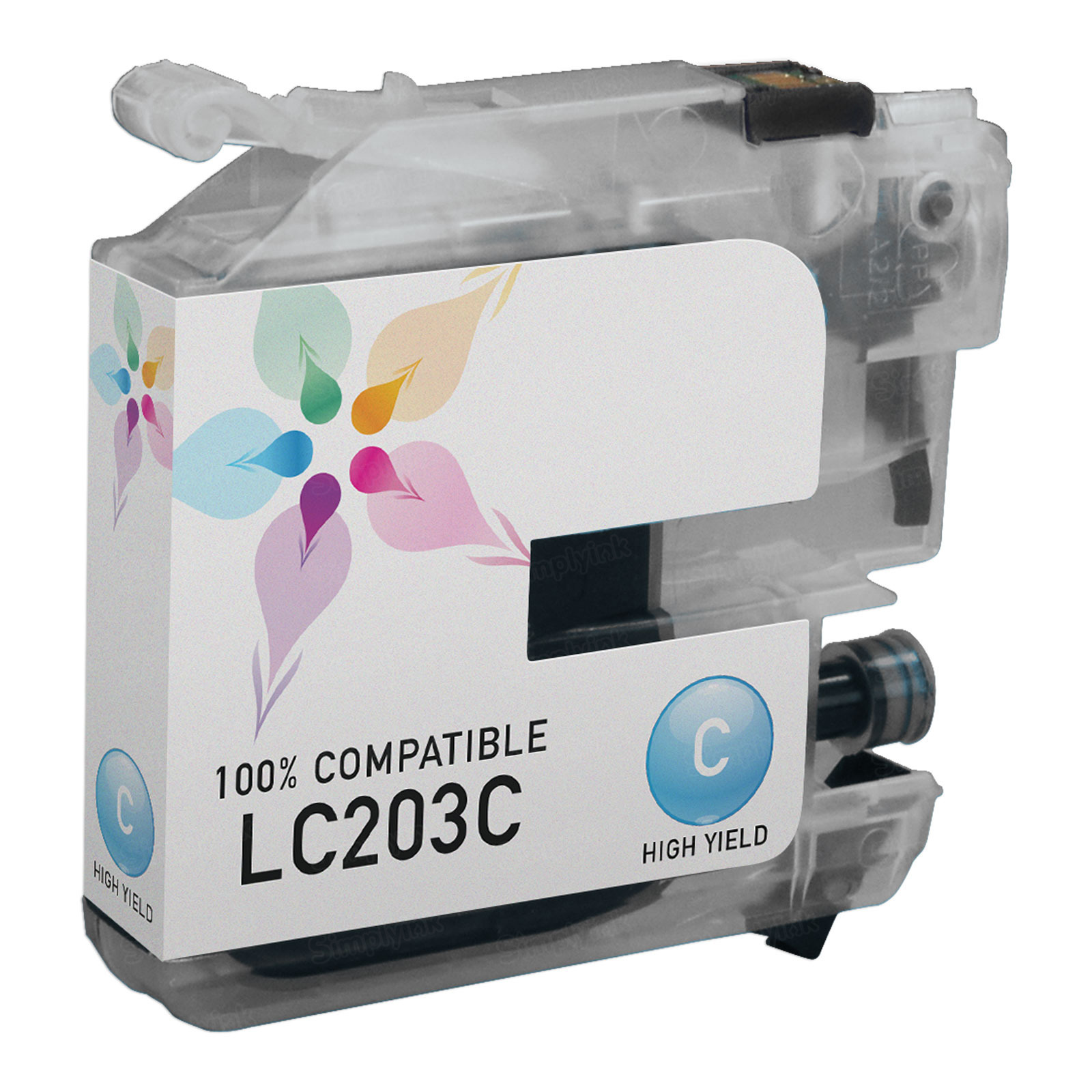Compatible LC203C HY Cyan Ink for Brother