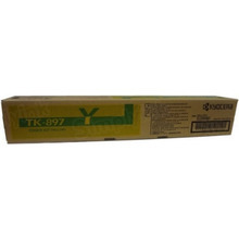 OEM Kyocera 1T02K0AUS0 Yellow Laser Toner Cartridge, TK-897Y
