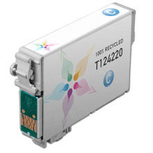 Remanufactured Epson T124220 (T1242) Moderate Capacity Cyan Ink Cartridges