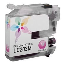 Compatible LC203M High Yield Magenta Ink Cartridge for Brother