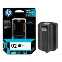Original HP 02 Black Ink Cartridge in Retail Packaging (C8721WN)