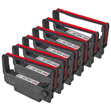 Compatible Epson ERC-30PR Purple and Red 6 Pack POS Ribbons