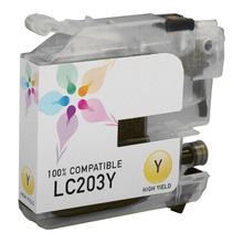 Compatible LC203Y High Yield Yellow Ink Cartridge for Brother