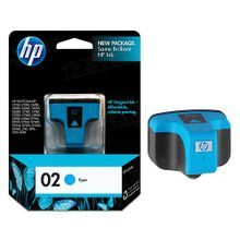Original HP 02 Cyan Ink Cartridge in Retail Packaging (C8771WN)