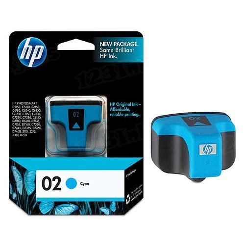 HP 02 Cyan Original Ink Cartridge C8771WN