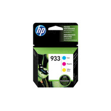 Original HP 933 Set of 3 Ink Cartridges, N9H56FN - 1 Each of Cyan, Magenta, and Yellow