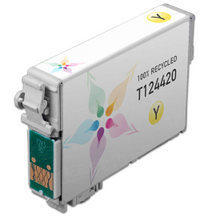 Remanufactured Epson T124420 (T1244) Moderate Capacity Yellow Ink Cartridges