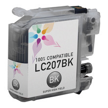 Compatible LC207BK Super High Yield Black Ink Cartridge for Brother