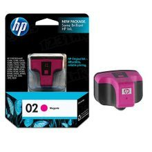 Original HP 02 Magenta Ink Cartridge in Retail Packaging (C8772WN)